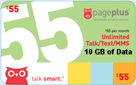 PagePlus Talk n Text $55.00 Unlimited Plan