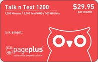 PagePlus Talk n Text $29.95 Plan