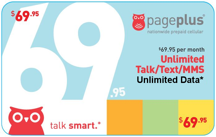 Page Plus $69.95  Monthly Plan