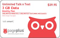 PagePlus Talk n Text $39.95 Unlimited Plan
