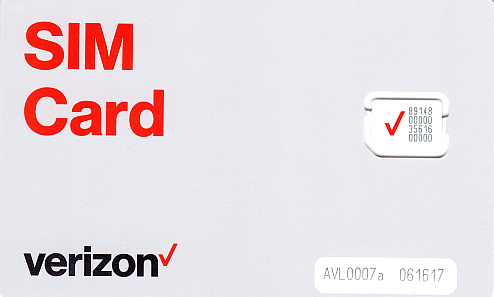 Verizon 4G LTE Standard SIM Card